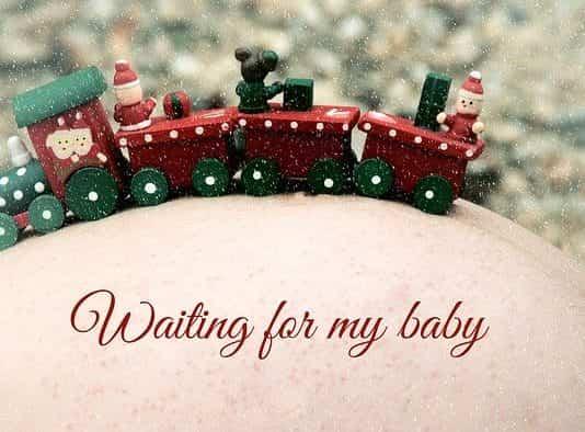 embarazada en Navidad